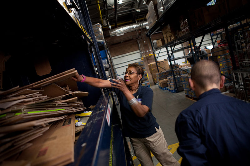 Image Credit: Magnus Manske. (28 October 2009). Walmart employees adding boxes to baler. Retrieved from http://commons.wikimedia.org/wiki/File:Walmart_employees_adding_boxes_to_baler.jpg [CC-BY-2.0 (http://creativecommons.org/licenses/by/2.0)], via Wikimedia Commons