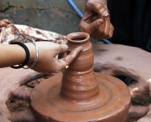 PDPics (2014). Pixabay. Pottery, potter, clay, craft, pot, handmade, rotation. Retrieved from http://pixabay.com/en/pottery-potter-clay-craft-pot-166798/. License: CCO Public Domain/ FAQ